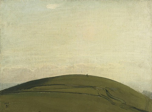 William Nicholson, The Downs (Rottingdean), 1909.