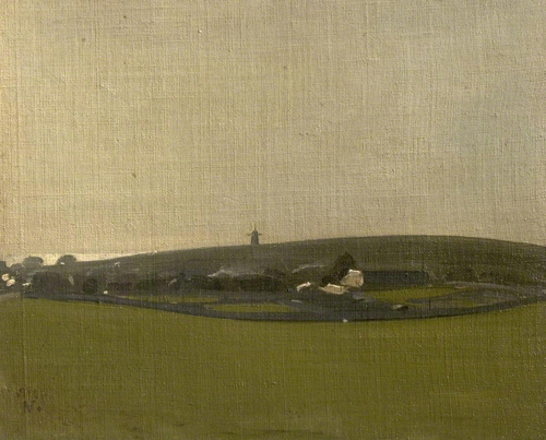 William Nicholson, The Windmill, Brighton Downs (Rottingdean), 1910.